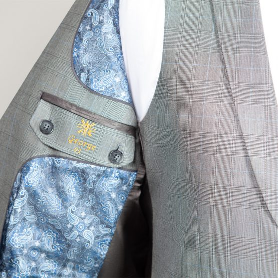 Kensington Grey Check 3 Piece Suit