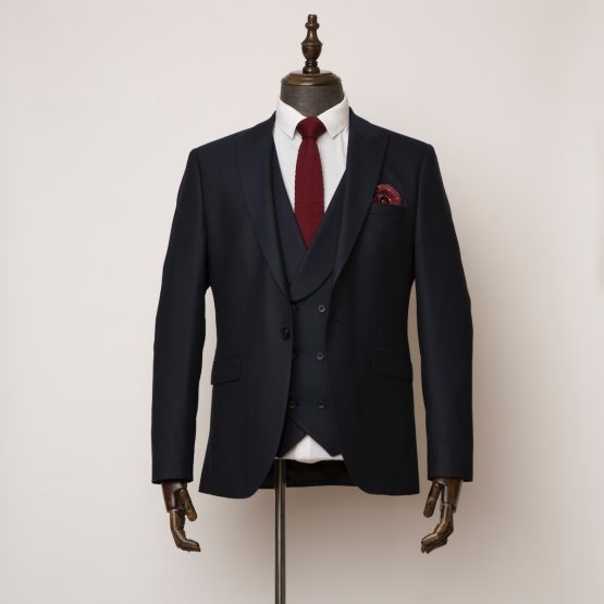 Bank navy 3 piece suit 1 555x555