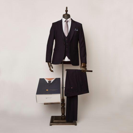 Bloomsbury Burgundy 3 Piece Suit