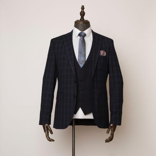Weybridge blue black 3 piece suit 1 600x600
