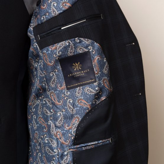 Weybridge Blue Black 3 Piece Suit