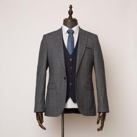 Wilmslow grey 3 piece suit 1 555x555