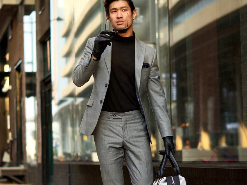 how to dress for a first date grey suit