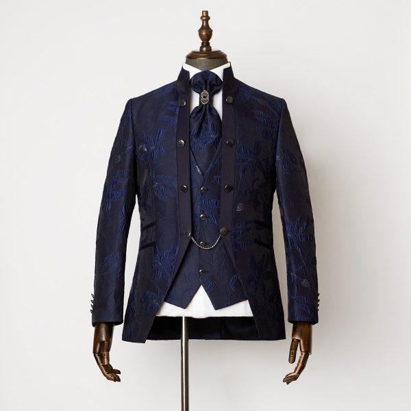 Angel Blue 3 Piece Nehru Suit 0801 B2L 600x600