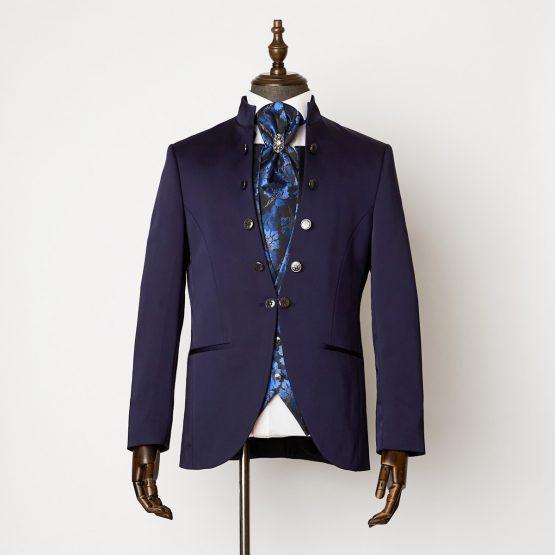 Durham Navy 3 Piece Nehru Suit 0101R B2L 555x555