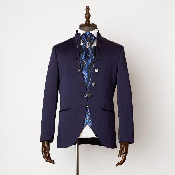 Durham Navy 3 Piece Nehru Suit 0101R B2L 600x600