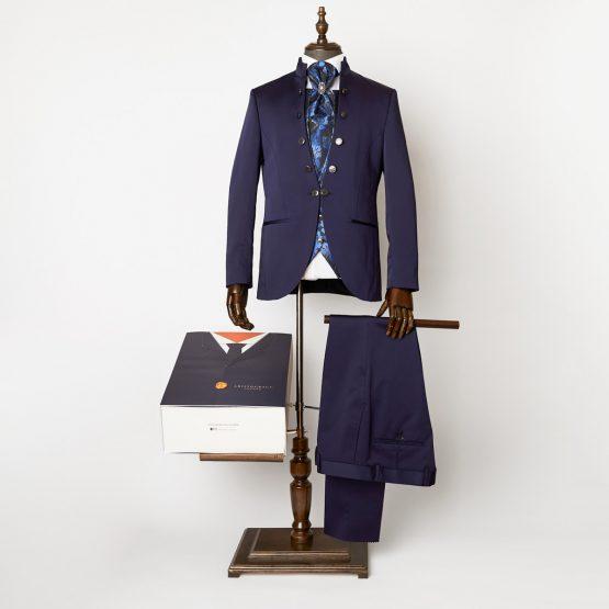 Durham Navy 3 Piece Nehru Suit 0102R B2L 555x555