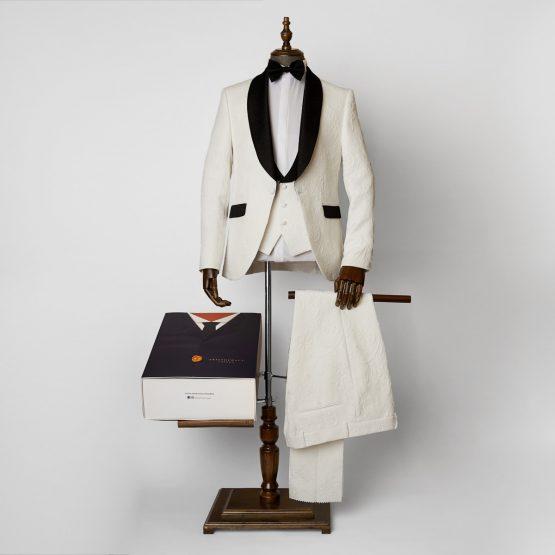 Essex 3 Piece White Tuxedo