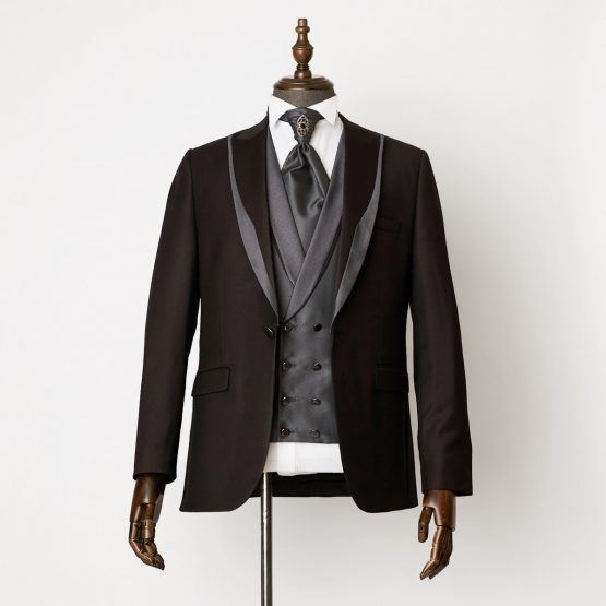 Hampton Black Grey 3 Piece Suit 0401 B2L 555x555