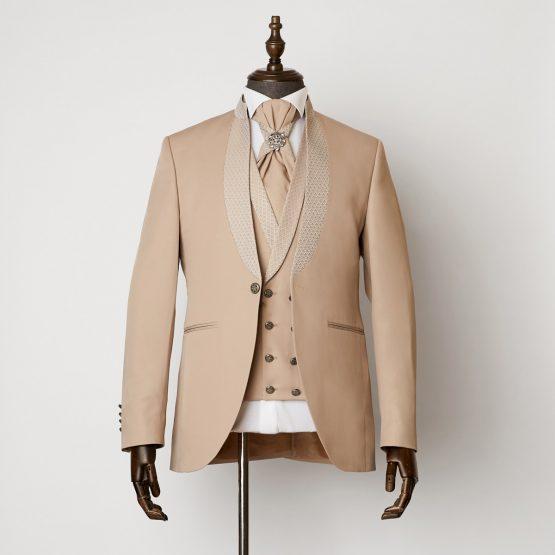 Radlett Beige 3 Piece Nehru Suit 1101 B1L 555x555