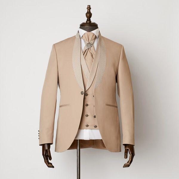 Radlett Beige 3 Piece Nehru Suit 1101 B1L 600x600