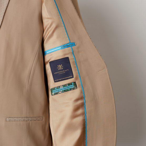 Radlett Beige 3 Piece Nehru Suit