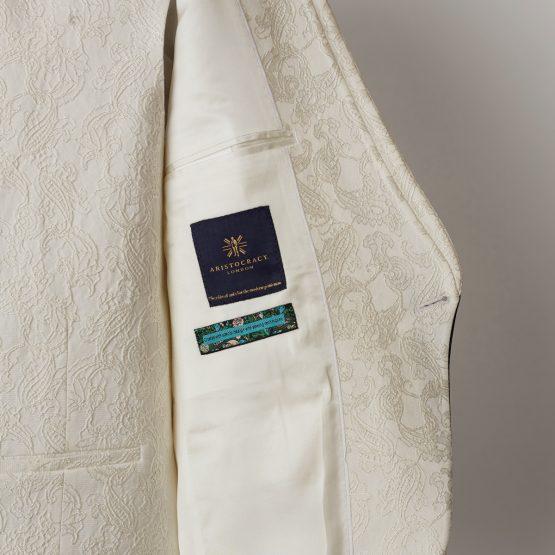 Truro White Navy 3 Piece Nehru Suit 1505 B1L 555x555