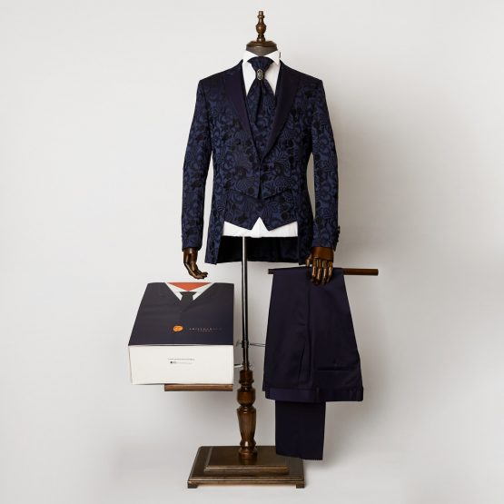 Windsor Blue 3 Piece Short Tailcoat Suit