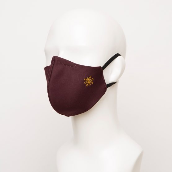 Burgundy Curved Face Mask 1 24908 555x555