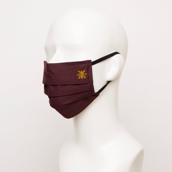 Burgundy Pleated Face Mask 1 24955 555x555