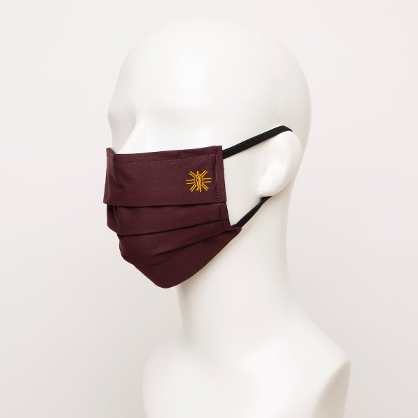 Burgundy Pleated Face Mask 1 24955 600x600