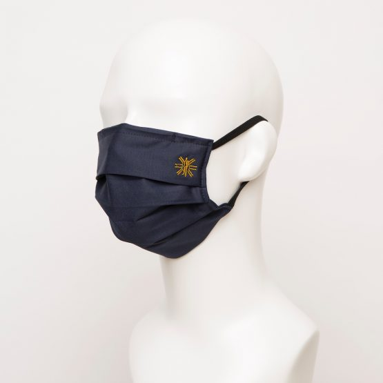 Navy Pleated Face Mask 1 24920 555x555