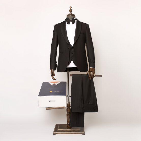 Barbican 3 Piece Black Tuxedo