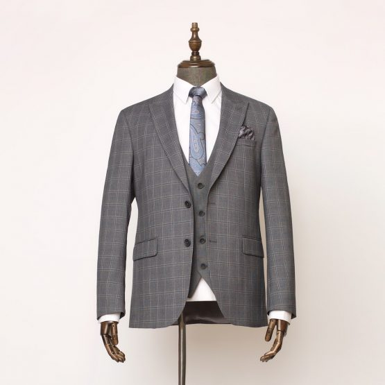 Cobham Grey 3 Piece Suit 1 555x555