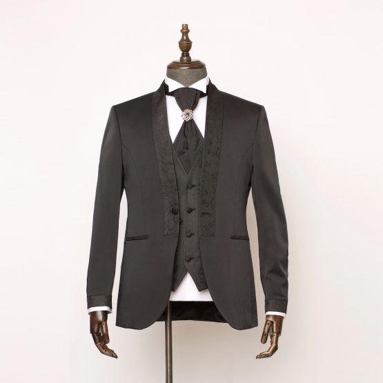 Gloucester Black 3 Piece Suit 1 555x555