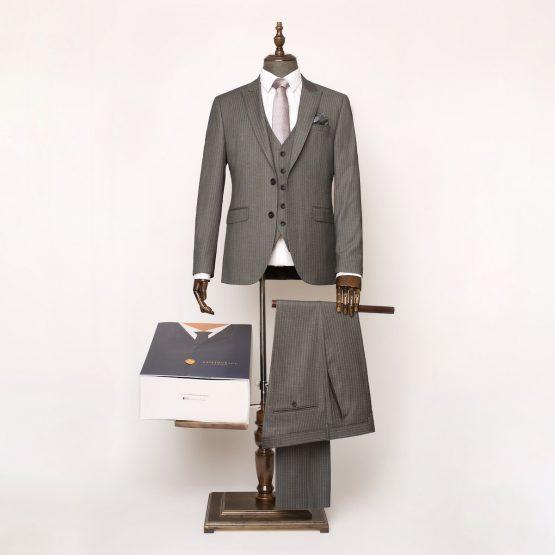 Holborn Grey Pinstripe 3 Piece Suit