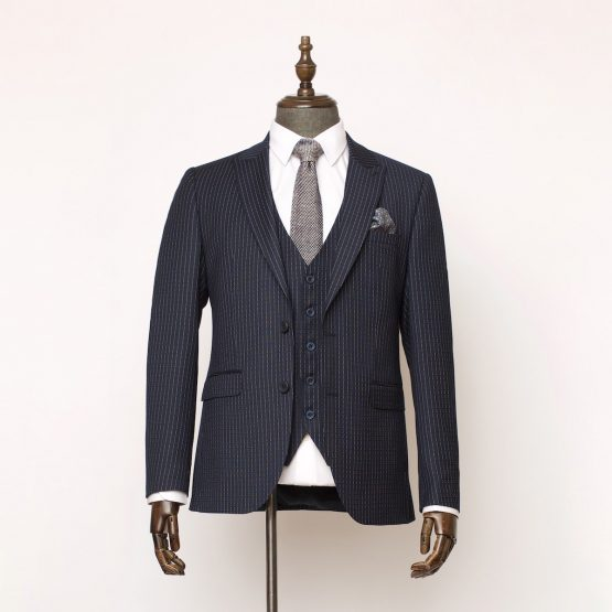 Holborn Navy Pinstripe 3 Piece Suit 1 555x555