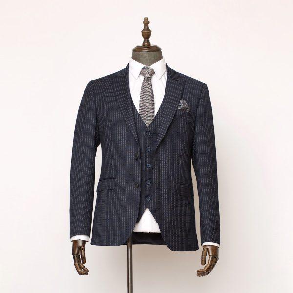 Holborn Navy Pinstripe 3 Piece Suit 1 600x600