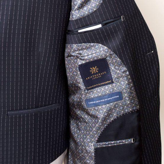 Holborn Navy Pinstripe 3 Piece Suit 2 555x555