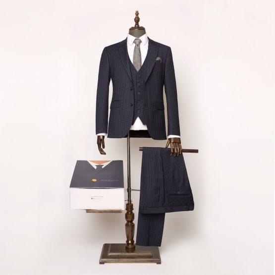 Holborn Navy Pinstripe 3 Piece Suit