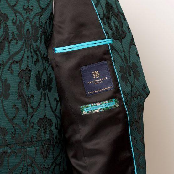 Lancaster Green Black 3 Piece Nehru Suit 2 555x555