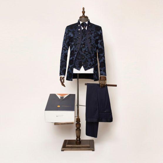 Brighton Blue 3 Piece Nehru Suit
