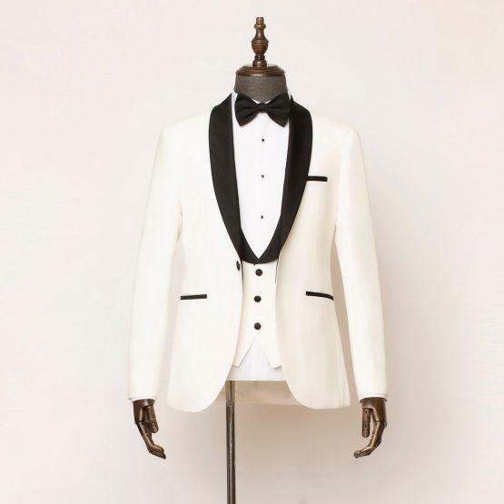 Marlow 3 Piece White Black Tuxedo 1 555x555