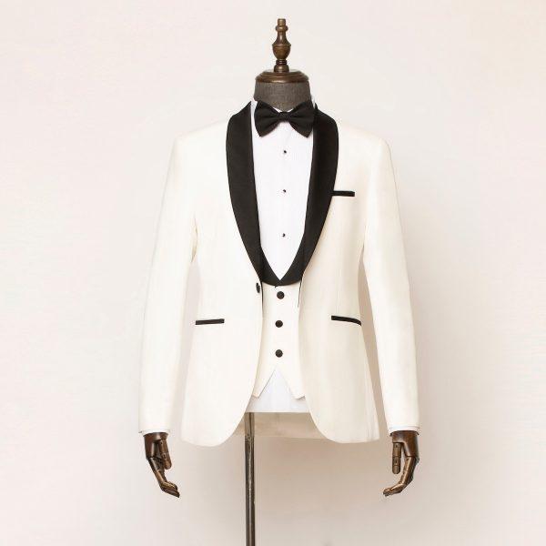 Marlow 3 Piece White Black Tuxedo 1 600x600