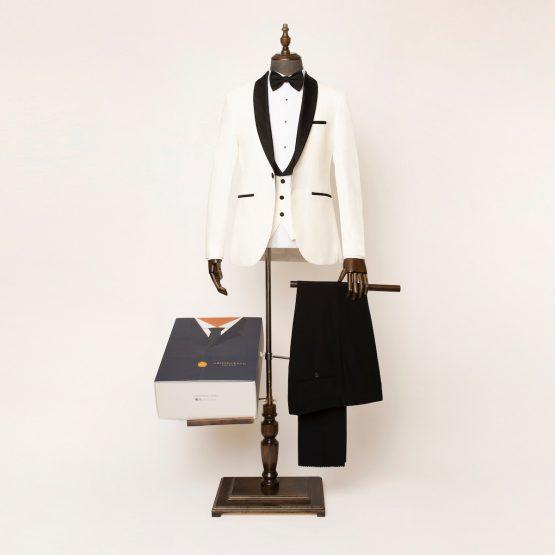 Marlow 3 Piece White Black Tuxedo 2 555x555