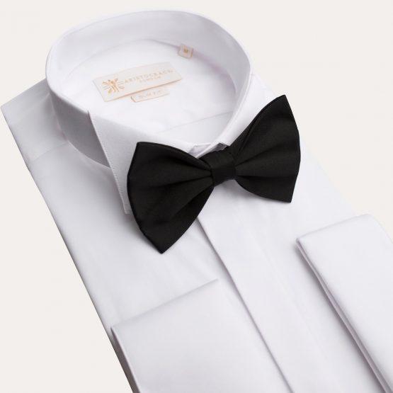 White Tuxedo Shirt with Hidden Buttons 2 555x555